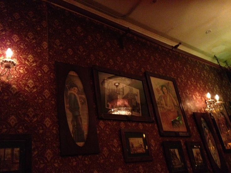 Choose a bar randomly, old Shanghai style paintings on the wall with modern music.