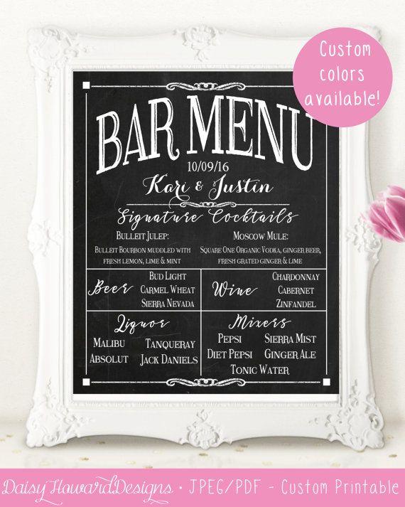 Best 20 Wedding Bar Menu Ideas On Pinterest