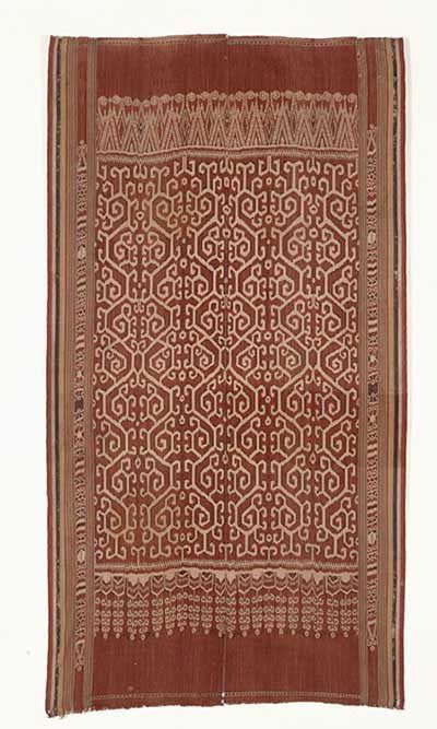 Ceremonial cloth (pua kumbu), early 20th century Malaysia, Sarawak, Iban Handspun cotton; warp-resist dyeing (ikat) 210 x 114.5 cm (82 11/16 x 45 1/16 in.) Museum purchase, Gift of Diane B. Wilsey and the Michael Taylor Trust Fund 2002.108.10 #ethnic_textiles #ethnic_art #textiles #textileart #textile_art #textileartscouncil #textile_arts_council #tac #textilesartssf #famsf #deyoung #de_young