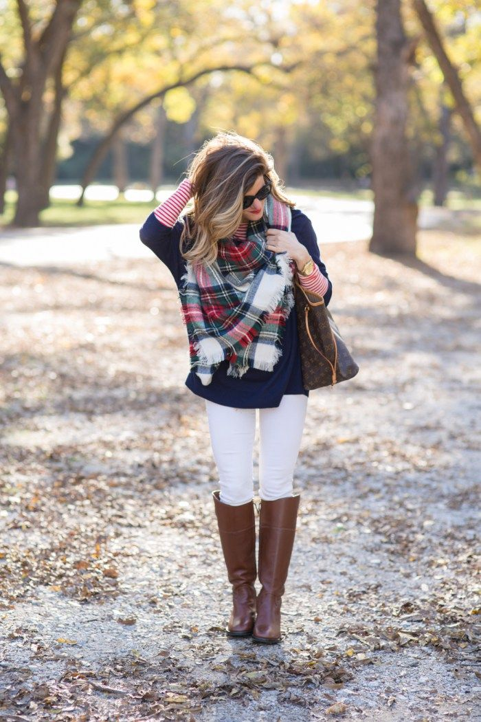 blanket scarf with riding boots-9