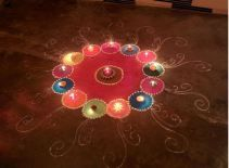 Top 20 easy Rangoli designs that kids can make this Diwali: https://thechampatree.in/2016/10/12/rangoli-designs/