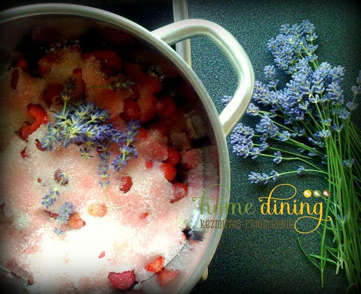 Lavendel-strawberry jam HomeDining home-made pure delicacies facebook.com/homedining info at budapesthomedining dot com