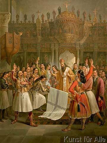 Theodoros Vryzakis - Bischof Germanos von Patras weiht die Fahne des Freiheitskampfes