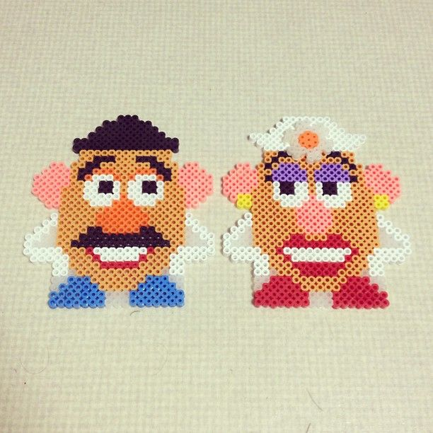 Toy Story characters perler beads by kenta_xx