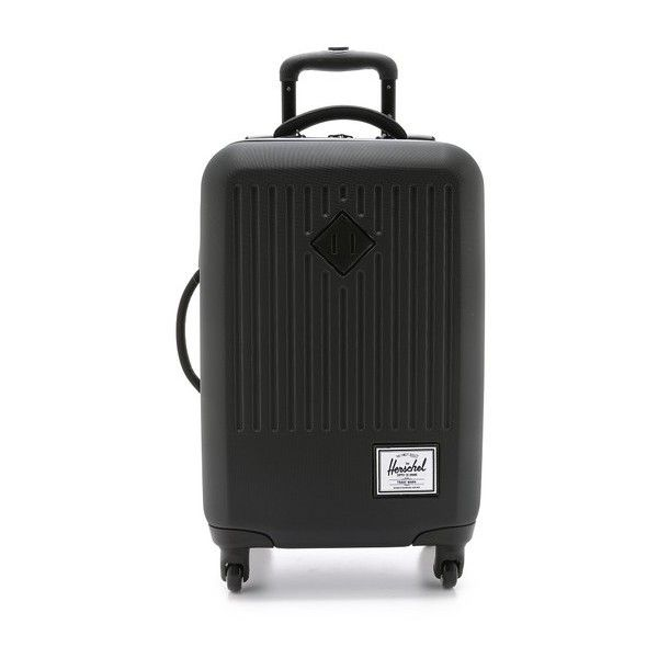Herschel Supply Co. Trade Suitcase (4,755 MXN) ❤ liked on Polyvore featuring bags, luggage and black