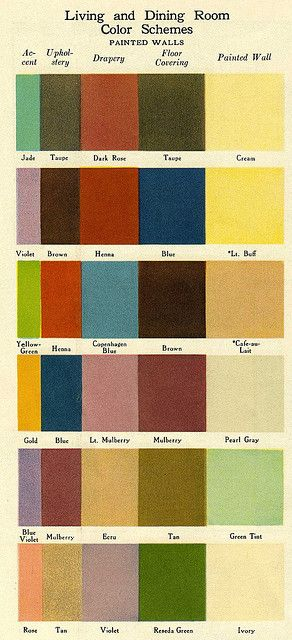 1920's Color Schemes (I love these way to much)