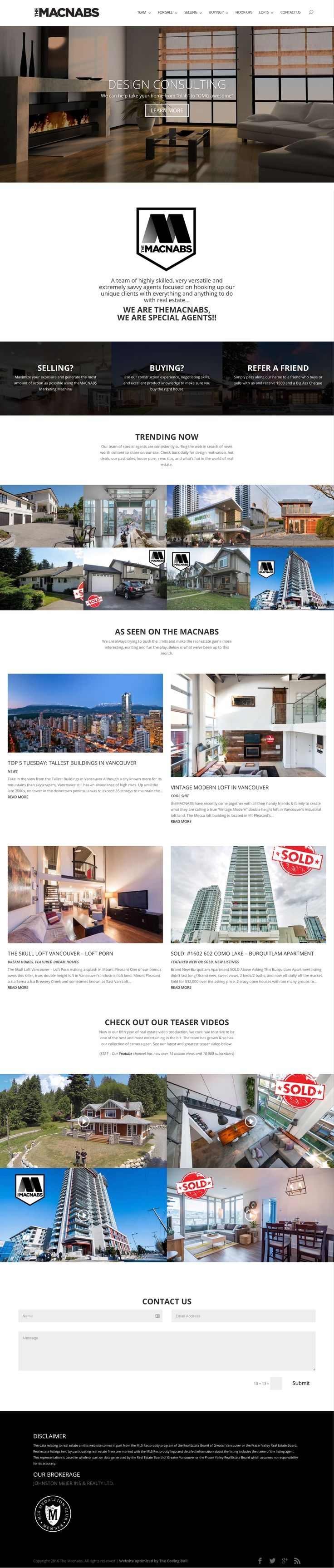 The Macnabs Real Estate Agent Website