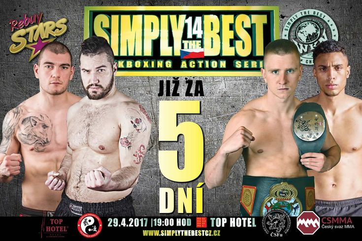 Kickboxing series Simply The Best, episode 14 Prague is held on Saturday April 29, 2017 at Top Hotel Praha, Czech Republic.