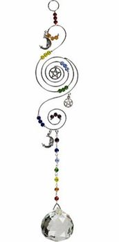 Chakra Light Catcher of the Pentacle - pagan wiccan witchcraft magick ritual supplies