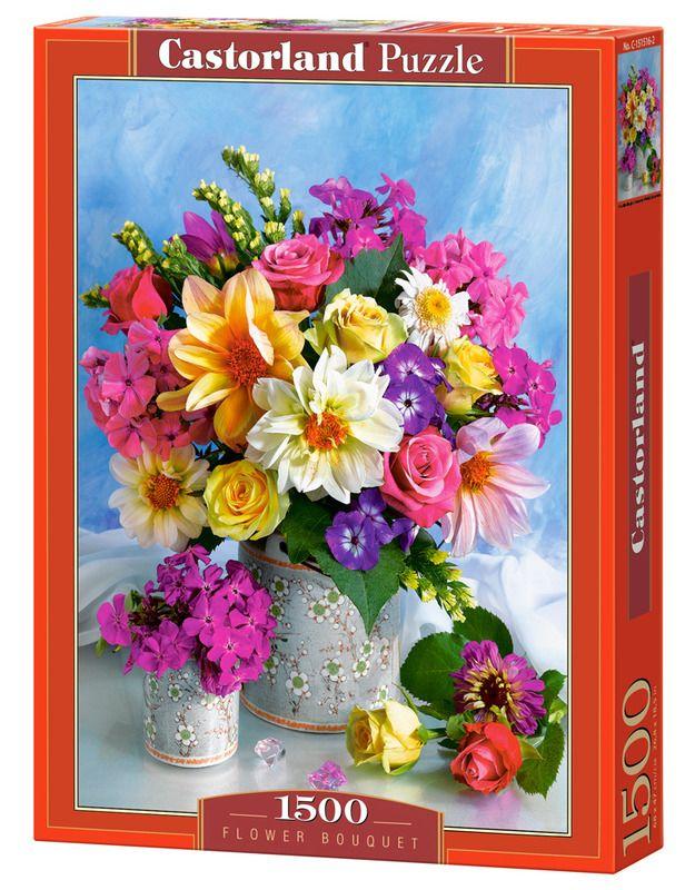 Puzzle Castorland 1500 Bukiet Kwiatow Flower Bouquet Flowers Bouquet Flowers Bouquet