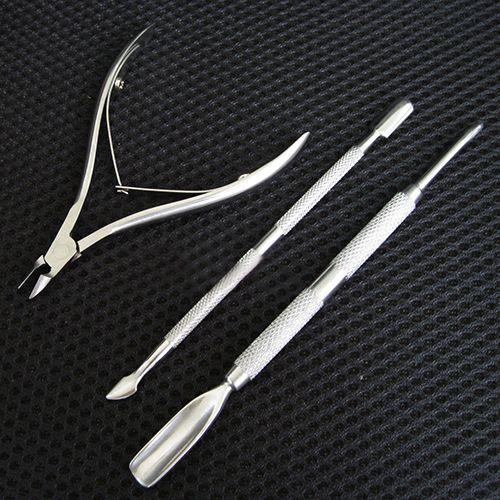 Argento in acciaio inox decorazioni di arte del chiodo della cuticola spoon pusher rimozione taglierina nipper clipper cut set chic design 5GH8