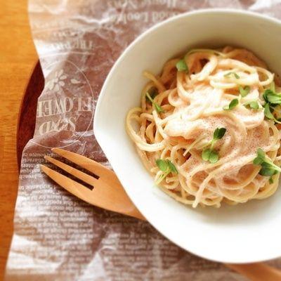 混ぜるだけで簡単クリーミー!めんつゆが隠し味のたらこスパゲティ ...