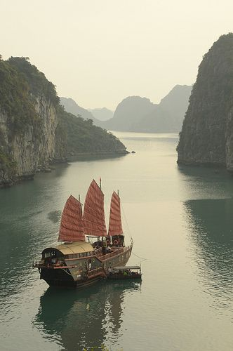 Aboard the Dragon's Pearl, journey through the mysterious and beautiful Ha Long Bay in Vietnam.by Victoria from London