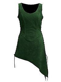 Schankmaid Tunika aus Wildleder grün  #suede #green #larp #female