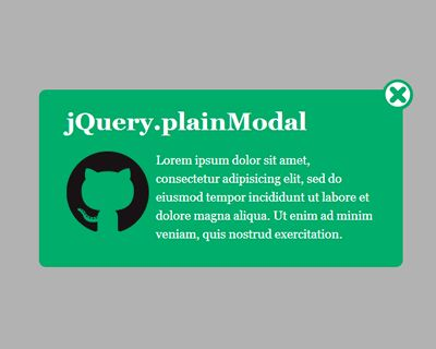 plainModal – jQuery Plugin for Customizable Modal Windows  #jQuery #modal #window #modalbox #lightweight