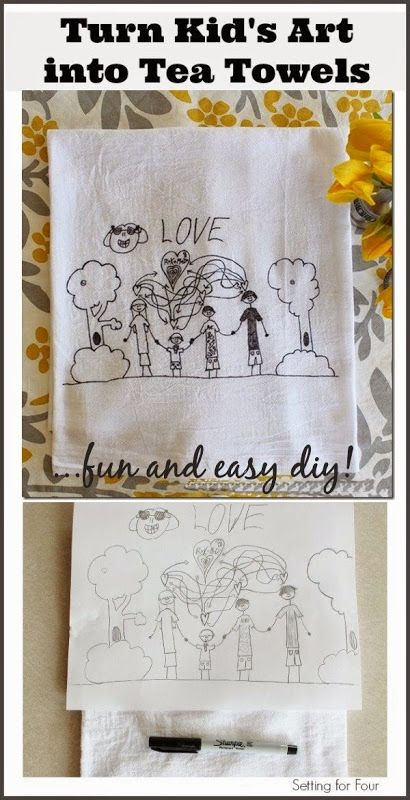Kids Art Tea Towel DIY