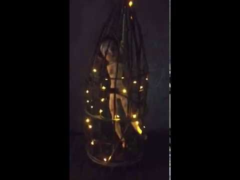 creepy mary in a cage light up halloween decoration - Light Up Halloween Decorations