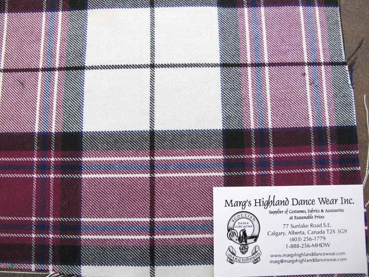 Swatch for Dress Wine MacKellar #mackellar #burgundy #tartan