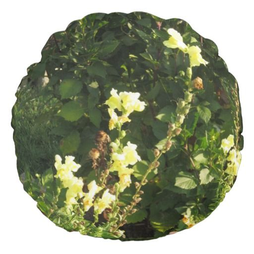 "Round Throw Pillow (16"")  Flowers nature colorful Round Pillow"