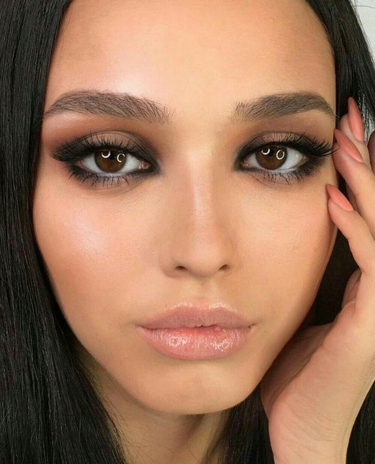 макияж глаз с темными линиями фото