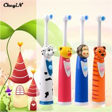 CkeyiN Dos Desenhos Animados Crianças Escova de Dente escova de Dentes Elétrica Para Crianças Elétrica Massagem Escova de Dentes Escova de Dentes Ultra-sônica Cuidados de Higiene Bucal alishoppbrasil