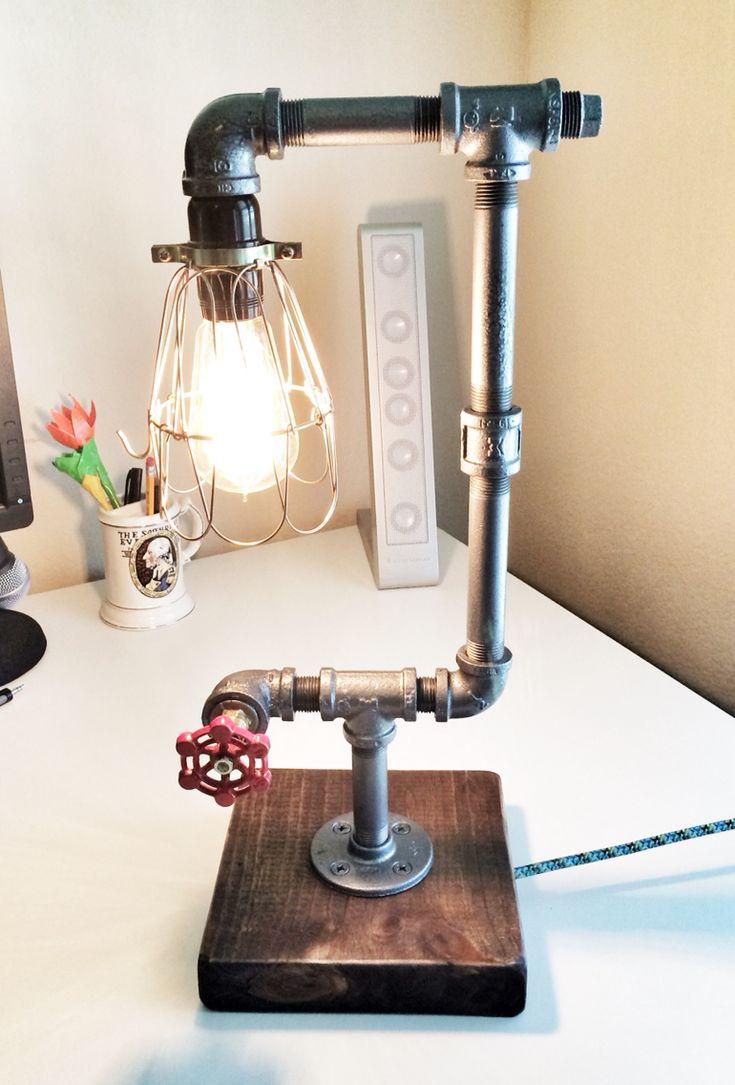 25 Basta Ideerna Om Pipe Lamp Pa Pinterest