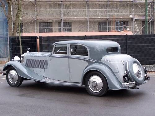 A beautifully balanced design on this 1932 Rolls Royce Phantom II Continental Sports Saloon by Thrupp and Maberly.