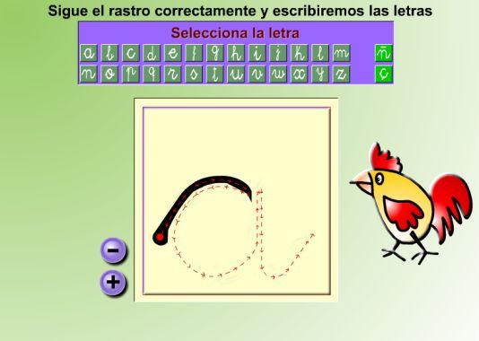 Con estos juegos podremos practicar la direccionalidad de las letras.