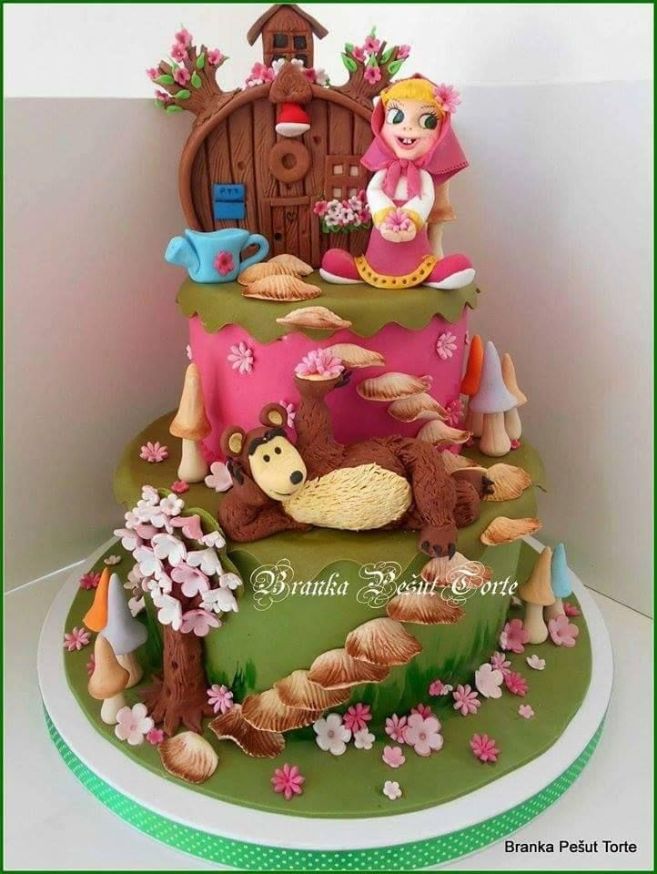 246 best Masha and the Bear Cakes images on Pinterest Birthdays