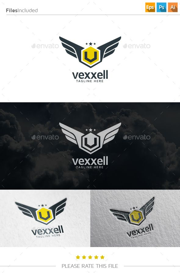 Wings - Logo Design Template Vector #logotype Download it here: http://graphicriver.net/item/wings-logo/10853673?s_rank=306?ref=nexion