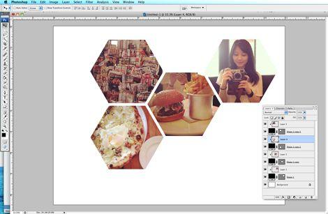 how to make hexagon shaped photos