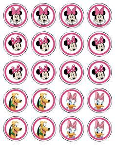 20 Edible Image Cupcake Topper Minnie Pluto and Daisy Party Collection