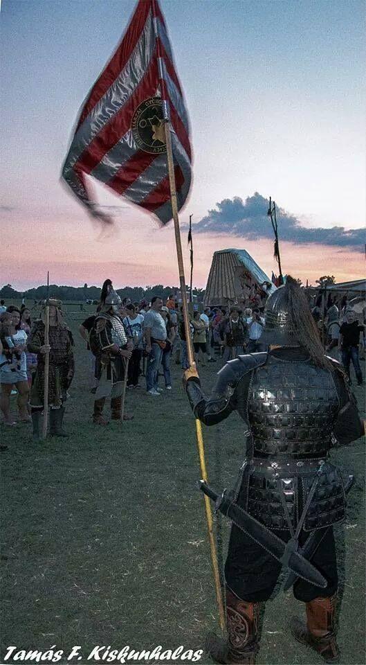 Hungarian warriors at Kurultaj 2014.