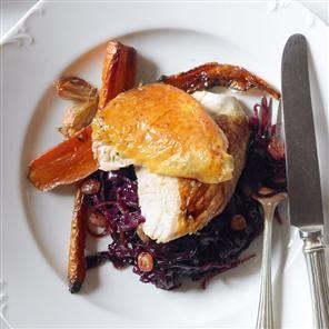 Guinea fowl and red cabbage Recipe | delicious. Magazine free recipes