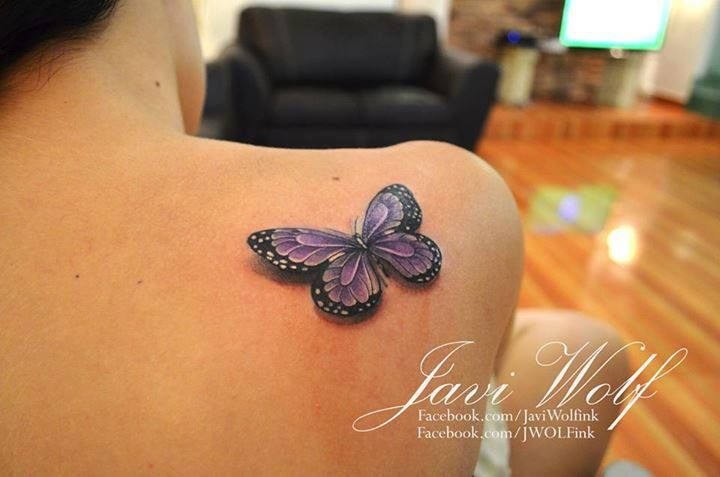mariposa 3d by javi wolf bonito wolf and tatoos. Black Bedroom Furniture Sets. Home Design Ideas