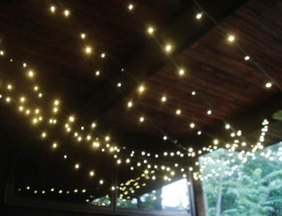 How to Install Poles to Hang String Lights on Patio Design Sense ... Patio Ideas Pinterest ...