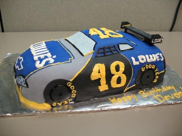 Nascar Cookie Birthday Cake