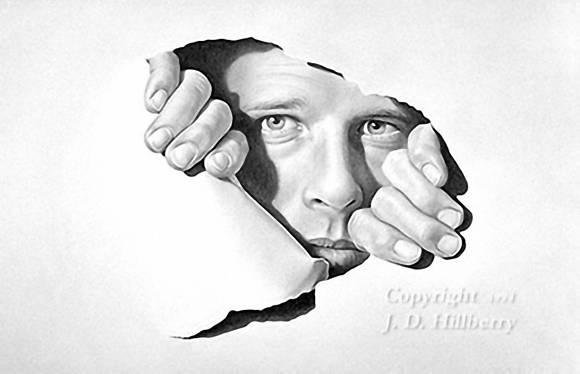 Karya Seni Pensil Drawing JD Hillberry