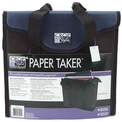Crop in Style - Paper Taker - Navy/black - 80002