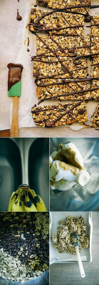 Express-o: Hecho en casa pan de plátano Granola Bars.
