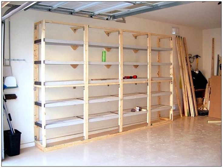Diy garage shelves diy pinterest garage shelf diy for Garage and storage building plans