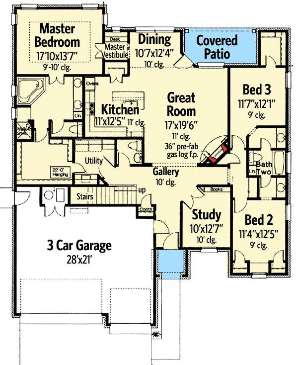 Plan 48440fm Dynamic Open Floor Plan Bonus Rooms