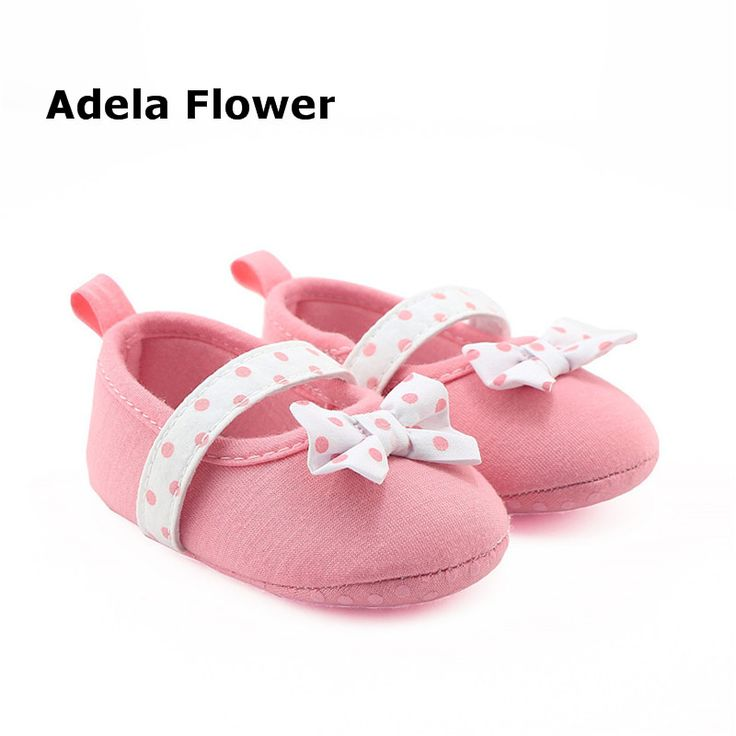 >> Click to Buy << Adela Flower Shoes Baby Girls Summer Polka Dots Bow Cotton Toddler Princess Soft Sole Shoes sepatu bayi perempuan 0-18 Months #Affiliate