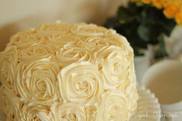 Tips for Making a Swirled Rose Cake from @Stefanie (Girl. Inspired.) | #cakedecorating #baking