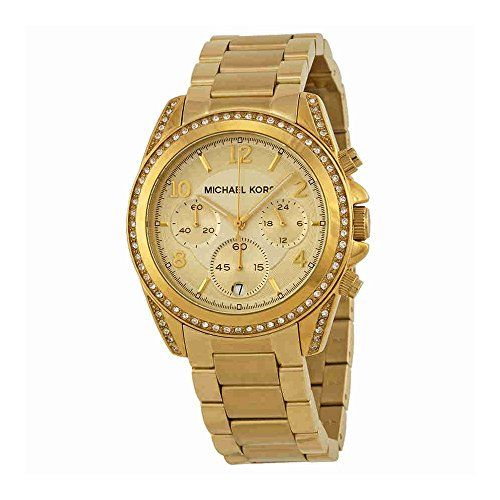 Michael Kors Golden Runway Watch with Glitz MK5166 -- Check this awesome product...