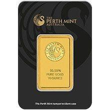 10oz Perth Mint Gold Minted Bar