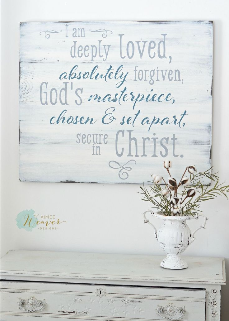 """""""I am deeply loved"""" Wood Sign by Aimee Weaver Designs"""