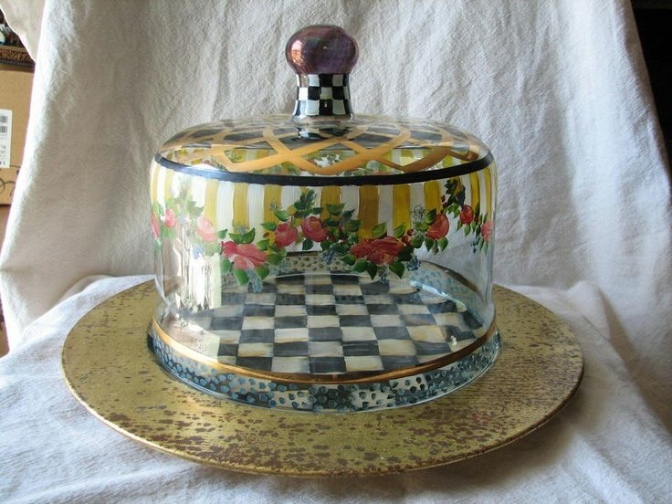 Cake Stand French With Dome Cream
