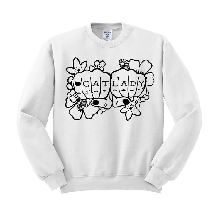 Cat Lady Tattoo Crewneck Sweatshirt