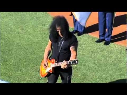 Slash Plays National Anthem!